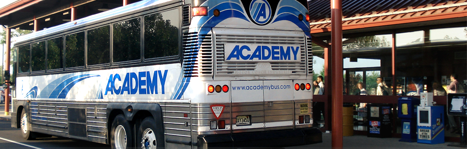 academy bus commuter bus from new jersey to new york city